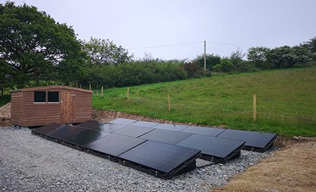 Off Grid Engineering, fishery ground mount off-grid solar PV